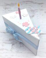 Stanzschablone Stanzform Tortenstück Kuchen Box Geschenk geeig. für Big Shot