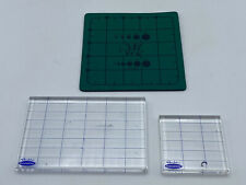 "Ct.2 Stampabilities Clear Acrylic Mounting Blocks 4""x6"" & 3""x3""-Gridlines Stamps"