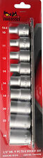 "Teng Tools M1210  1/2"" Drive 116610104 9PC Torx TX-E  E10 -  E24 Socket Set"
