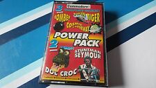 COMMODORE 64 GAME THE CF POWER PACK TAPE 26. TESTED. 3 FULL GAMES, & 2 DEMOS