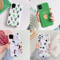 For iPhone 11 Pro Max XS XR 6s 7 8 Plus X Flower Leaf Girls Soft TPU Case Cover