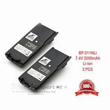 2 x BP-211N Battery for ICOM IC-A6 IC-A24 IC-V8 IC-V82 IC-F30GT/GS IC-F40GT/GS