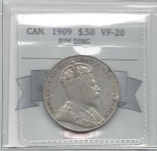 **1909**, Coin Mart Graded Canadian 50 Cent, **VF-20 Rim Ding****