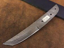 Handmade Pattern Welded Damascus Steel Tanto Blank Blade-Klinge-Lame-B21