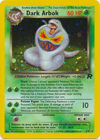 Dark Arbok Holo Pokemon Card Team Rocket 2/82