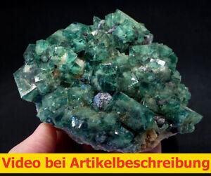 8009 Fluorite Galenit ca 13*15*7cm daylightflourescence UV Rogerley 2005 MOVIE