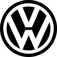 vw decal stickers  100mm x 100mm  x 6 stickers
