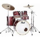 Batterie Pearl Export Rock 22'' Black Cherry Glitter avec cymbales