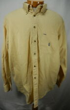 Mens XL Yellow Nautica Long Sleeve Button Front Shirt