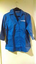 Edwards  Amsted Rail Ladies' 3/4-Sleeve Button Down Shirt Medium Blue