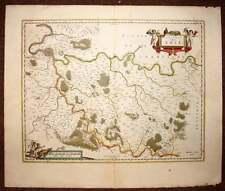 carte geographique originale du PAYS DE BRIE par JOHANNES BLAEU 1640