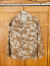 British Army Desert DPM Camo Field Shirt, Patches, Size Large 180/96