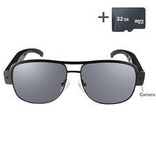 HD 1080P Video Audio Spy Camera Sunglasses Glasses Eyewear DVR Hidden Cam 32GB