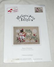 Barbara Ana Designs Merry Christmas Counted Cross Stitch Chart Canvas Included