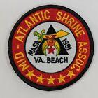 Mid-Atlantic Shrine Assoc MASA VA Virginia Beach 1991 Shriners Embroidered Patch