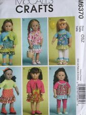 """McCall's 6370 Sewing Pattern Clothes for 18"""" American Girl Dolls New Boho"""