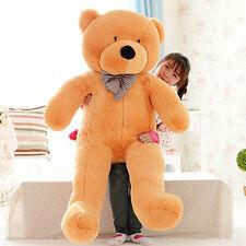 "Fashion Brown Teddy Bear 45"" Big Cute Plush Stuffed Giant Soft Toys Kids Gift"