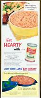 1952 Franco-American Spaghetti PRINT AD How to Please a Hungry Family Quick!