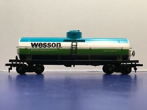 """HO Scale """"Wesson Oil"""" GATX 9876 40' Single Dome Freight Train Tanker 2/3"""