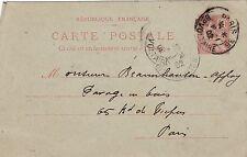Z289 carte postale entier postal 10 c type mouchon