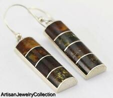 BALTIC AMBER EARRINGS 925 STERLING SILVER ARTISAN JEWELRY COLLECTION S094