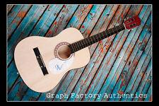 **GFA Wicked Musical Star *KRISTIN CHENOWETH* Signed Acoustic Guitar COA**