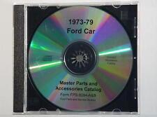 1973-79 Ford Car Master Parts Text & Illustrations CD