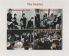 Los Beatles Republique du Mali 2014 SELLO estampillada sin montar o nunca montada en miniatura Sheetlet