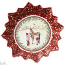 Villeroy & Boch TOY'S FANTASY Large Bowl:  Reindeer & Children  #3762