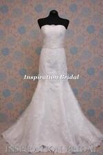 Uk 1394 White Ivory Wedding Dresses dress lace mermaid size 8 10 12 14 16 18 20