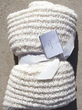 POTTERY BARN ~ BOUCLE THROW BLANKET in IVORY ~ I ALSO HAVE BLUE / ORANGE / TAUPE