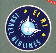Airline luggage label Baggage Label  El Al  Israel  #599