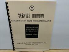 Leblond 12 14 16 18 Engine Lathes Service Manual