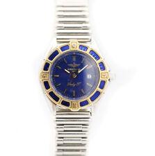Breitling Transocean Two Tone 31mm Blue Dial Bulllet Steel Quartz Women's Watch