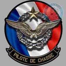 STICKER ARMEE DE L'AIR FRANCAISE AVIATION PILOTE DE CHASSE INSIGNE FRANCE PF058