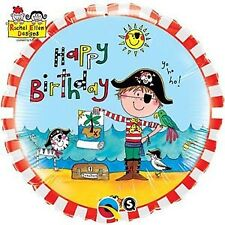"Foil Balloon 18""(45cm) Happy Birthday Pirate Rachel Ellen BIRTHDAY PARTY SUPP..."