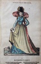 FRANKREICH BURGUND AMMAN WEIGEL TRACHTEN BUCH NOBILIS VIRGO BURGUNDA 1577