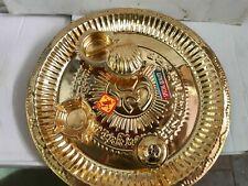 8 INCH BRASS Hindu Puja Thali Pooja for DIWALI Mandir Prayers Puja Havan