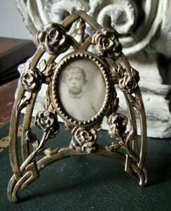 PRETTY FRENCH ANTIQUE EARLY XX th. C. PICTURE FRAME ROSES SHABBY CHIC
