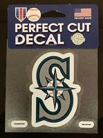 "Seattle Mariners Classic 4""x4"" Die Cut MLB Logo Vibrant Decal Sticker Decor NEW"