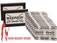 100% GENUINE Wilkinson Sword Double Edge Classic Mens Safety Razor Blades UK P&P