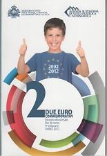 2 Euro commémorative de Saint-Marin 2012 Brillant Universel (BU) - 10 Ans de l'€