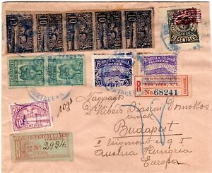COLOMBIA - HUNGARY - 1.20p REGISTERED AR COVER - CARTAGENA to BUDAPEST - 1903 RR