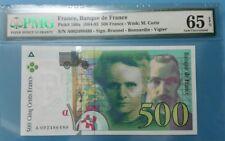 1994 -95 FRANCE 500 FRANCS PMG65 EPQ GEM UNC <P-160a> 1st Prefix A