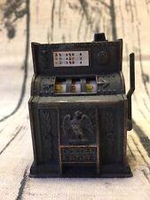 VINTAGE DIE CAST METAL MINIATURE GOLDEN EAGLE SLOT MACHINE PENCIL SHARPENER