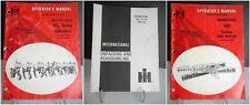 3 Ih International Harvester Operator Manuals 480 Tandem Disk Harrow 155 Series