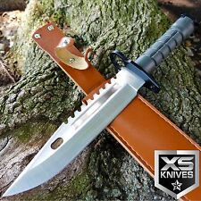 "13"" TACTICAL SURVIVAL Bayonet Military COMBAT Fixed Blade Hunting Knife BOWIE"