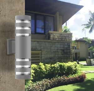 Duel Head Outdoor Security Light Porch Garden Lamp - Brand New, Boxed