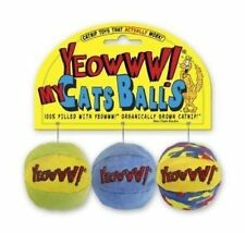 Rosewood Yeowww My Cats Balls Catnip Toy (pack of 3) Assorted 2in