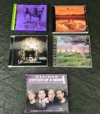 Alice In Chains, Korn, Megadeth, System Of A Down x 5 Cd's Joblot Bundle Metal